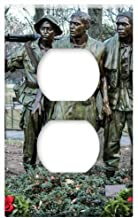 Switch Plate Outlet Cover - Vietnam Soldier Memorial Washington Dc Bronze