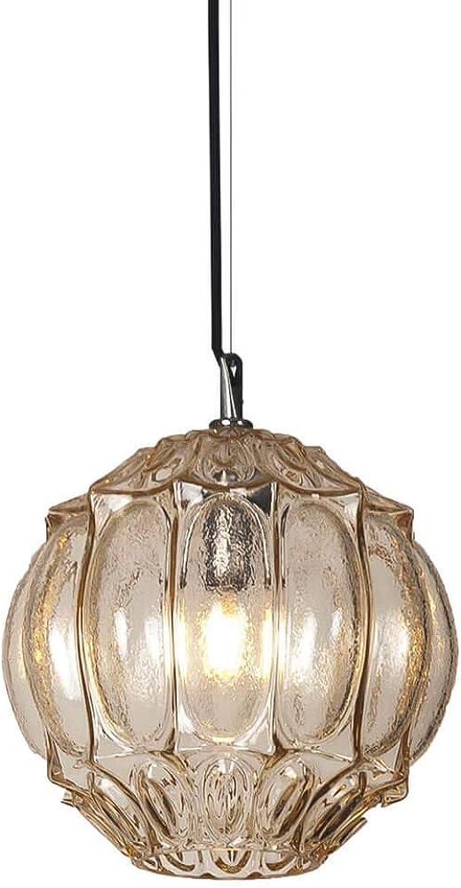 Karman ginger, lampada a sospensione Ø27 cm, in vetro color paglierino SE1162A INT