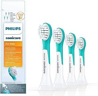 Philips Sonicare for kids tandborsthuvuden - 4-pack - Kompakt - Fran 3 ar och uppat - Soniska tandborsthuvuden - HX6034/33