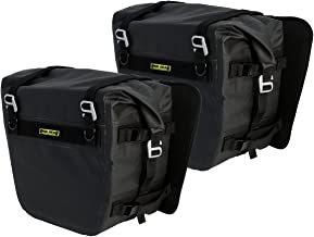 Nelson-Rigg Black SE-3050-BLK Sierra Dry Saddlebags 100% Waterproof Mount to Most Adventure and Dual Sport Motorcycles
