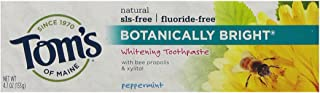 Tom's of Maine Botanically Bright Whitening Toothpaste Peppermint, 4.7 Ounce