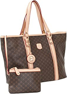 Leather Accents Shopper with Pouch
