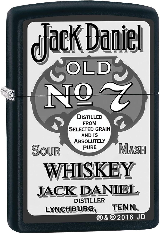Zippo Feuerzeug 60002670 PL Jack Daniels Benzinfeuerzeug, Messing, schwarz Matte 1 x 3,5 x 5,5 cm B01LYL7XO5