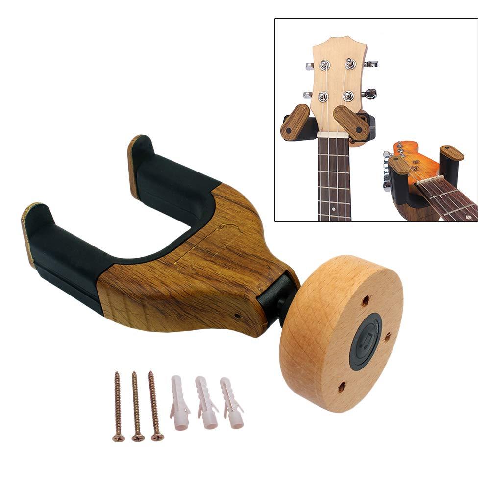 Supvox Soporte de montaje en pared para guitarra de madera Soporte ...