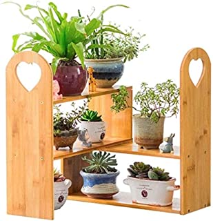 ZRL77y Flower Stand Solid Wood Multi-Layer Plant Shelf Pot Rack Shelf Two Layers Flower Shelf Floor Multi-Layer Multi-Func...