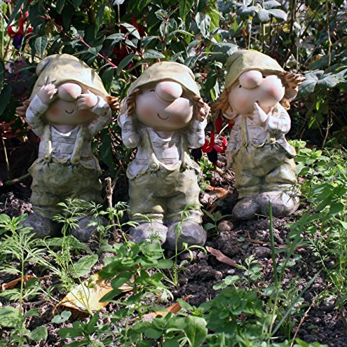 Cuthbert e Kate Statuine da giardino