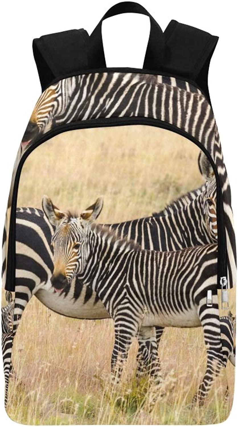 Cape Mountain Zebra Equus Zebra Zebra Casual Daypack Travel Bag College School Backpack for Mens and Women