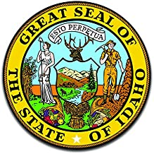 More Shiz Idaho State Seal (2 Pack) Vinyl Decal Sticker - Car Truck Van SUV Window Wall Cup Laptop - Two 5 Inch Decals - MKS0899