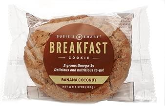 Susie's Smart Breakfast Cookie Banana Coconut Breakfast Cookie, , 3.5 Ounce (Pack of 18)