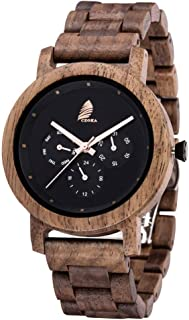 CZOKA Mens Wood Wrist Watch for Men Men's Wooden Watch,...