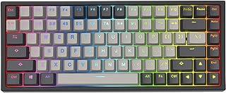 YUNZII KC84 84キー ホットスワップ可能な有線メカニカルキーボード PBT染料サブベッドキーキャップ プログラム可能 RGB NKRO Type-Cケーブル Win/Mac/ゲーム/タイピスト用 ゲートロンレッドスイッチ ブラック