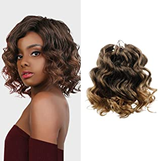 """MULTI PACK DEALS! AU-THEN-TIC FreeKalon Synthetic Hair Crochet Braids Curl Crush Ocean Wave 8"""" with Free Gift (1-PACK, 1B)"""