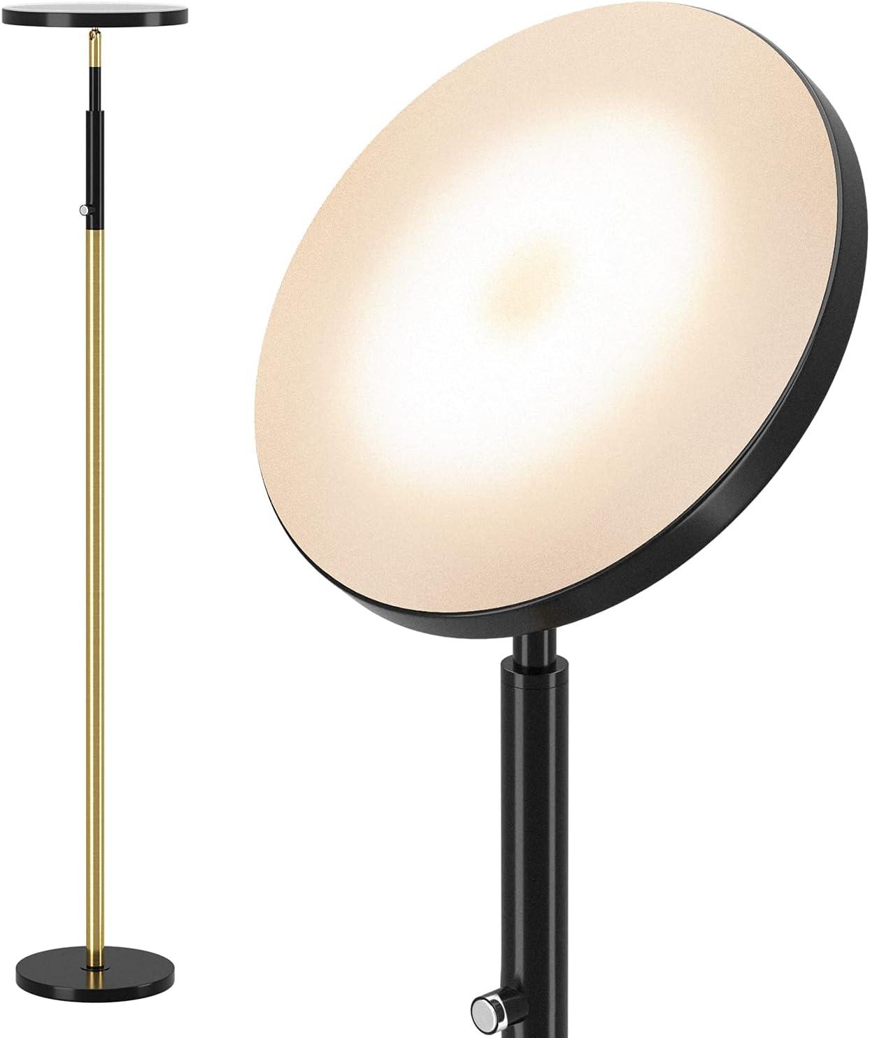 DEEPLITE LED Torchiere Floor Factory outlet Lamp - Soft Surprise price LEDs 2700K Light 34W