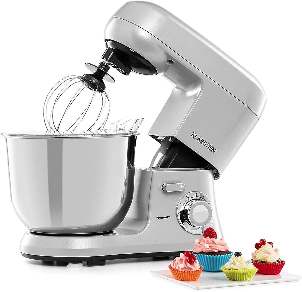 Klarstein, robot da cucina, impastatrice planetaria, 1.200 watt TK2-90300-rghp