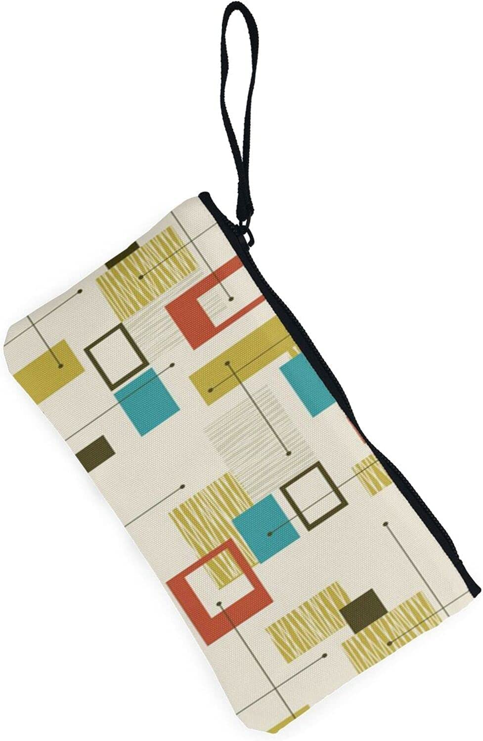 AORRUAM Mid Century Modern Canvas Coin Purse,Canvas Zipper Pencil Cases,Canvas Change Purse Pouch Mini Wallet Coin Bag