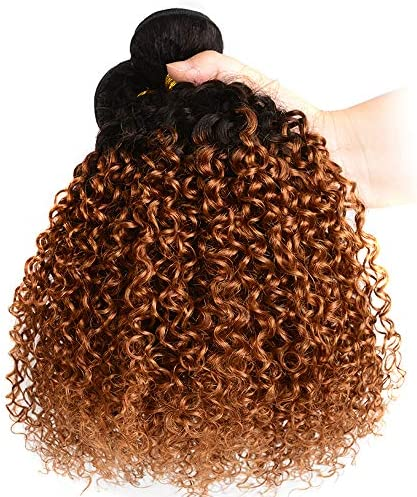 Ombre Kinky Curly 24 8 Bundles 380Gm T1B 30 Synthetic Afro Kinky Curly Hair Same Texture As product image