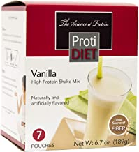 ProtiDiet Protein Shake - Vanilla (7/Box) - High Protein 15g - Low Calorie - Low Fat