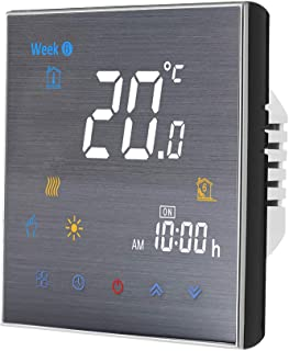 Decdeal WiFi Smart Thermostat for Electric Heating Programmable Temperature Controller LCD Display Touch Button Voice/Remo...