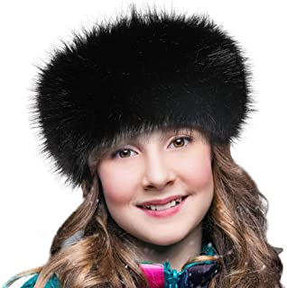 Faux Fur Headband with Elastic Fluffy Fur Hat Winter Ear Warmer Women Earmuff Ski Cold Weather Caps