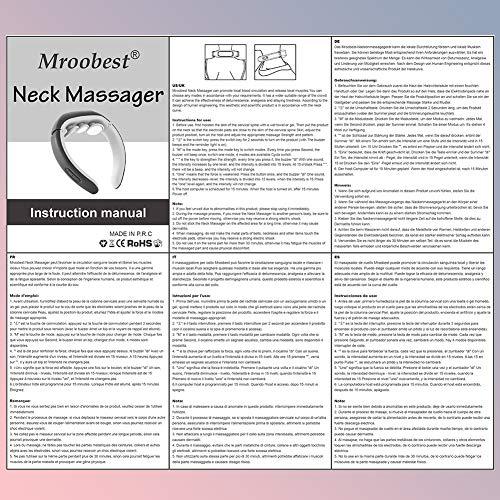 Massaggiatore Cervicale, Neck Massager, Massaggiatore Elettrico Per Collo, 4 modalità e 15 livelli di punti trigger intelligenti per i tessuti profondi, Adatto a tutti i luoghi