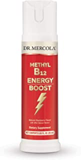 Dr. Mercola Vitamin B12 Energy Booster, 0.85 Ounce