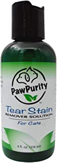 PawPurity Tear Stain Remover Solution for Cats | 100% Natural, Approved by Vets & Groomers | Contains Colloidal Silver | R...