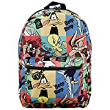 Looney Tunes Classic Cartoon Characters Tile Print Laptop Backpack