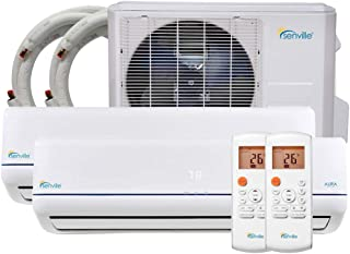 Senville SENA-18MO-209 18000 BTU Dual Zone Split Air Conditioner and Heat Pump, Mini