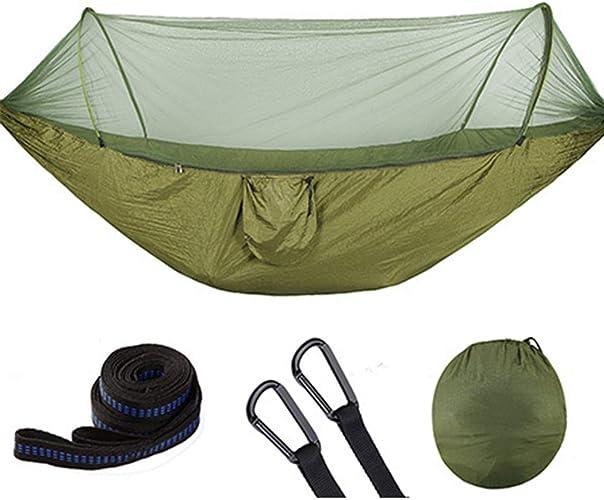 ZFAZF Camping hamac avec moustiquaire, hamac de Camping, moustiquaire de Voyage, capacité de Charge de 200 kg pour Jardin intérieur extérieur, randonnée,250  120CM