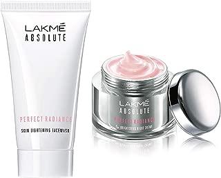Lakmé Absolute Perfect Radiance Skin Lightening Facewash, 50g & Lakmé Absolute Perfect Radiance Skin Lightening Night Creme, 50g