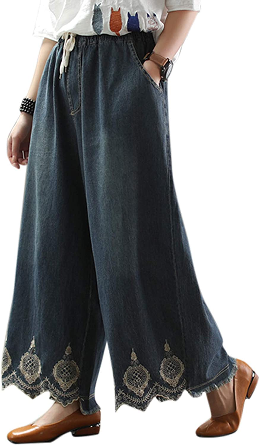 Women's Spring Autumn sale Max 72% OFF Vintage Cropped Pants Casual Harem T Loose