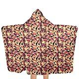 ZHSL Premium Kapuzenhandtuch Mitte des Jahrhunderts, buntes Art-Deco-Kinderhandtuch aus weicher Baumwolle mit Kapuze Ultraweiche, hochsaugfähige 51,5 x 31,8 Zoll
