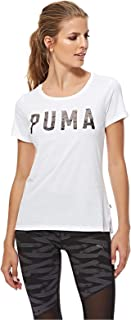 Puma ATHLETIC Tee For Women, Size XS White