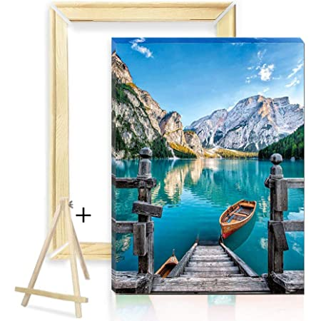16x20 Adults Paint-by-Number Kits Visit /& View Amalfi Landscape Modern Paint by Numbers Kits for Adults