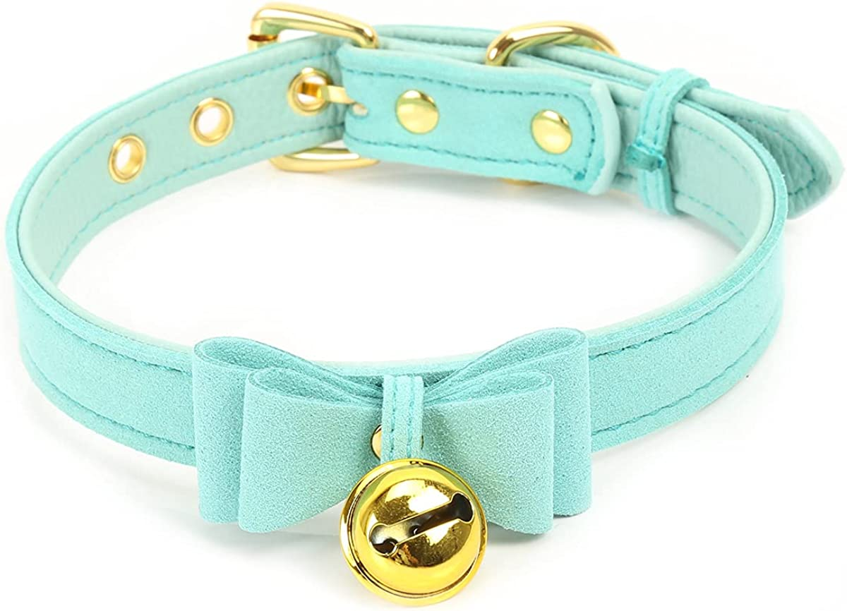 Bell Choker overseas Free shipping anywhere in the nation Collar Necklace Lolita Velve Bow Kitty
