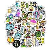 50 pcs Rick and Morty Vinyl Skateboard Guitar Travel Case Sticker Door Laptop Luggage Car Bike Bicycle Stickers
