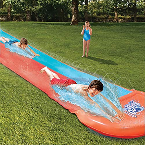 Slip and Slide Gigante|Alfombrilla Deslizante Slip'n Slide Más Rápido|Tobogán Más Fuerte|Deporte Acuático Al Aire Libre|Juego |5.49 Metros De Deslizamiento |100% Divertido|