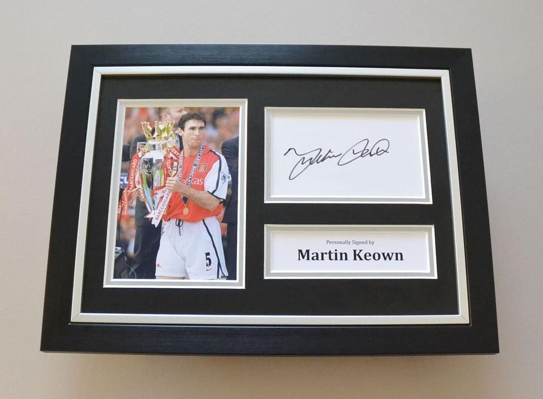 Up North Memorabilia Martin Keown Signed A4 Photo Framed Genuine Arsenal Autograph Display + COA