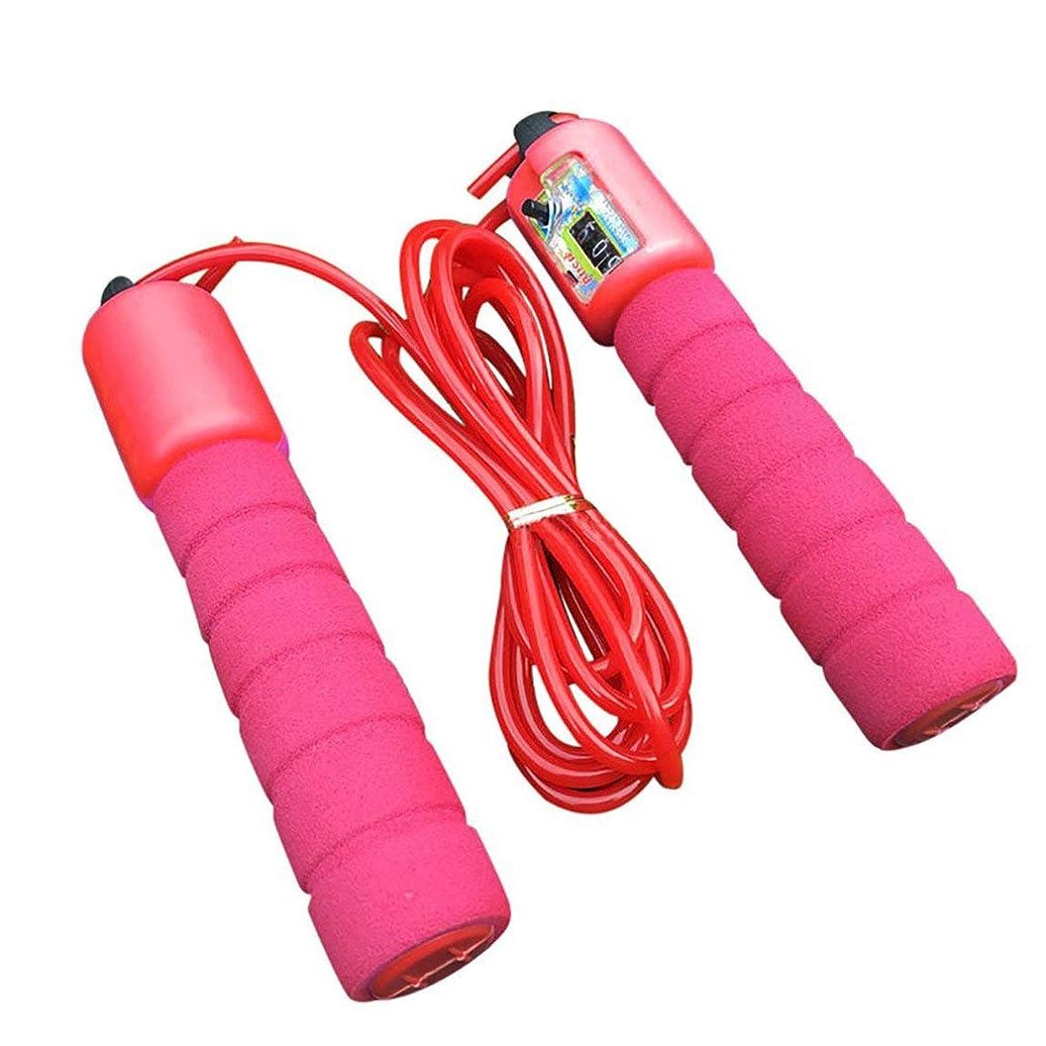 針オーラルとても調整可能なプロフェッショナルカウント縄跳び自動カウントジャンプロープフィットネス運動高速カウントジャンプロープ - 赤
