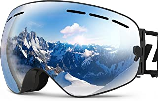 ZIONOR X Ski Snowboard Snow Goggles OTG Design for Men Women with Spherical Detachable..