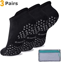 Hylaea Unisex Non-Slip Socks for Women & Men with Grips, Ideal for Yoga, Pilates, Barre, Hospital, Dance, Workout | Cushioned, Non-Skid Slipper Socks