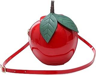 Kuang Women's Cute PU Fruit Shape Apple Pineapple Watermelon Cross Body Handbag Purse Clutch