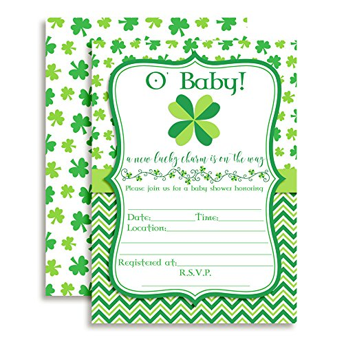 St. Patrick's Day Baby Shower Fill in Invitations