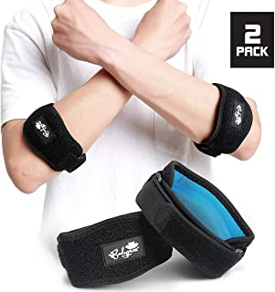 Elbow Brace 2 Pack for Tennis & Golfer's Elbow Pain Relief