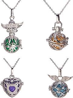 Idee Cadeau Femme JOYMIAO Acier Inoxydable 316L Aromath/érapie Huile Essentielle Diffuseur Bracelet M/édaillon