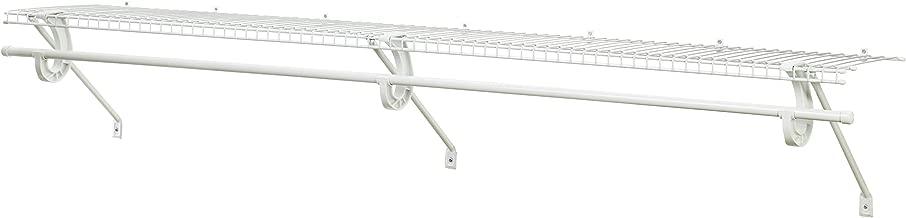 ClosetMaid 5632 Super Slide Ventilated Shelf Kit with Closet Rod, 6' by 12