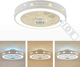 Giaowoli Ventilador De Techo Lámpara Con Control Remoto Moderna Led Lámpara De Techo Velocidad Ajustable Regulable Ultra Silencioso Ventilador Lámpara Lata Tiempo Ventilador Invisible