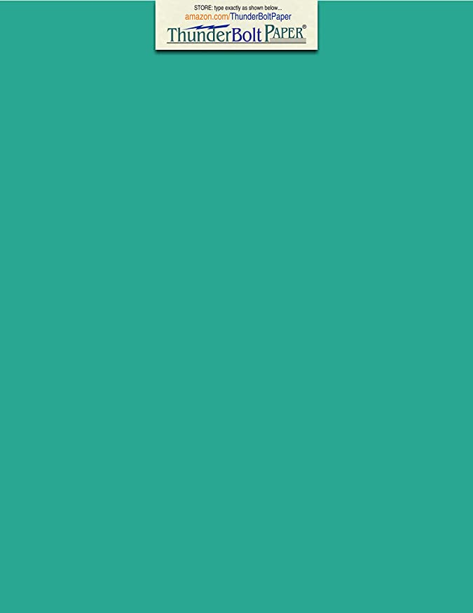 50 Bright Teal 65lb Cover|Card Paper - 9 X 12 Inches Frame, Sketch Pad and Drawing Size - 65 lb/Pound Light Weight Cardstock - Quality Printable Smooth Surface for Bright Colorful Results