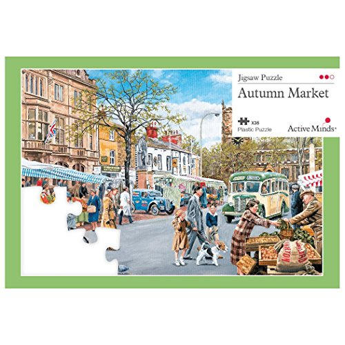 Active Minds 35 Piece Autumn Market Jigsaw Puzzle | Specialist Alzheimers/Dementia Activities & Games