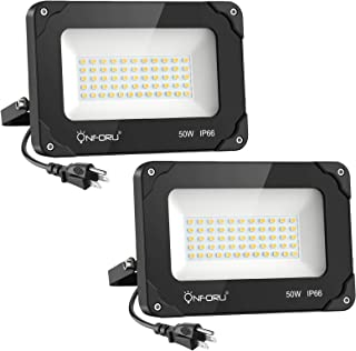 Onforu 100W/60W/35W LED Flood Light with Plug, 5000K Daylight White 60.00W, 240.00V